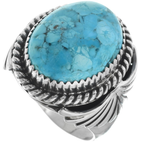 Navajo Turquoise Silver Ring 34178