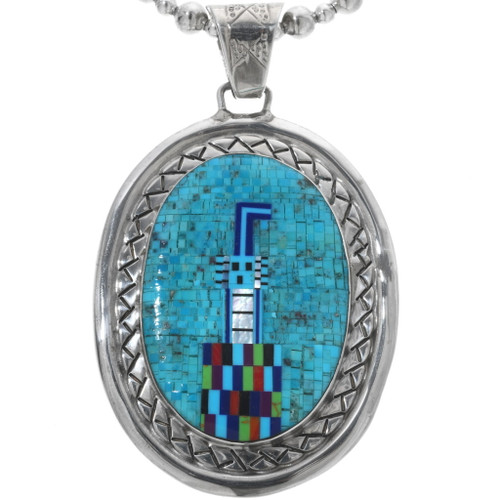 Vintage Turquoise Kachina Pendant 34186