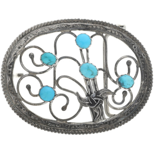 Old Pawn Turquoise Ladies Belt Buckle 34189