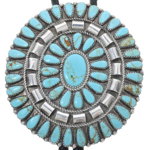 Vintage Navajo Turquoise Bolo Tie 34190