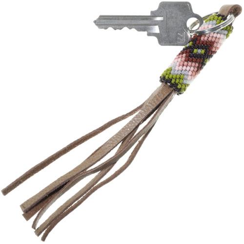 Native American Hand Beaded Key Ring 34203
