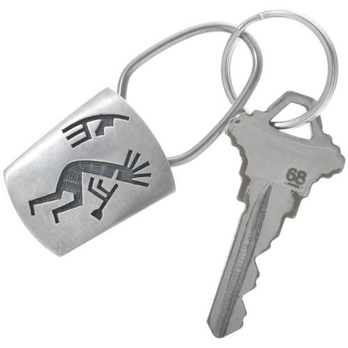 Silver Kokopelli Key Ring 34215