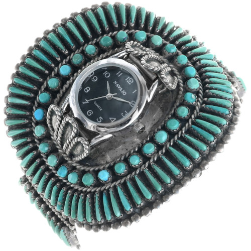 Old Pawn Zuni Turquoise Watch 34232