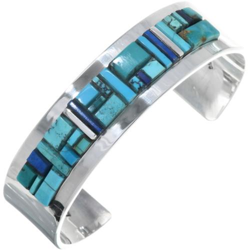 Navajo Inlay Turquoise Cuff Bracelet 34238