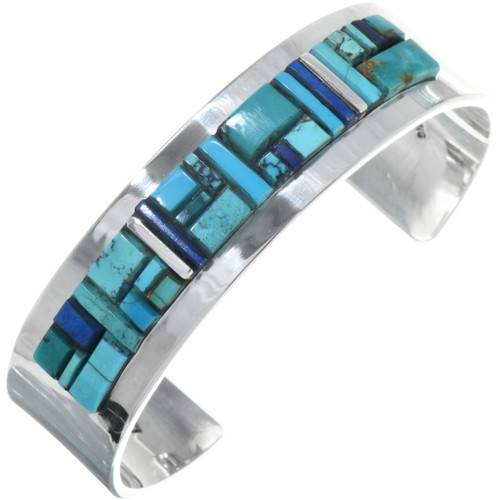 Navajo Inlay Turquoise Cuff Bracelet 34238