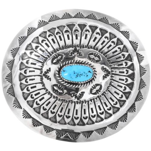 Vintage Navajo Turquoise Belt Buckle 34266