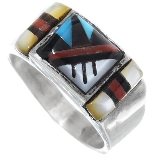 Native American Inlay Signet Ring 34364
