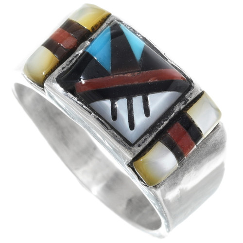 Native American Inlay Signet Ring 34364