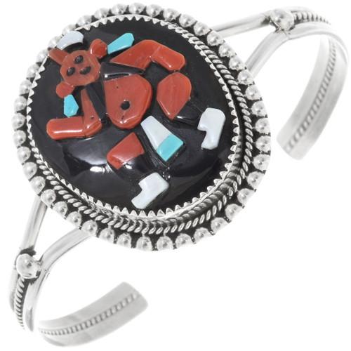 Coral Zuni Kachina Bracelet 34370
