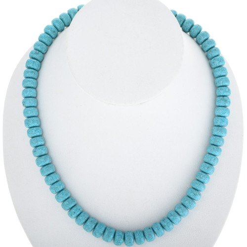 Vintage Native American Turquoise Necklace 34391