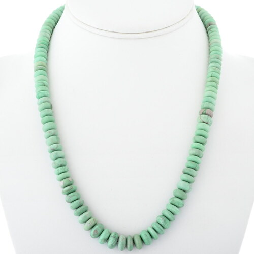 Navajo Green Variscite Bead Necklace 34392
