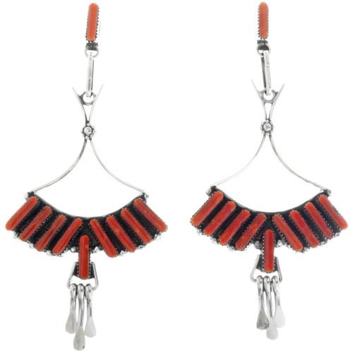 Zuni Vintage Coral Earrings 34438