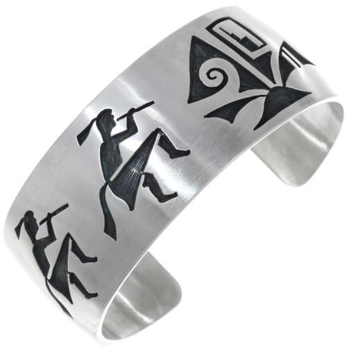 Hopi Kokopelli Sterling Silver Cuff Bracelet 34452