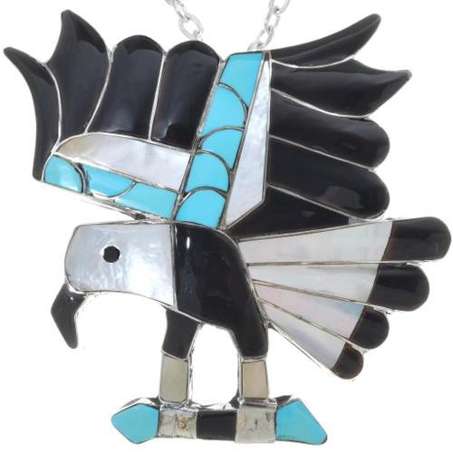 Old Pawn Zuni Turquoise Eagle Pendant 34457
