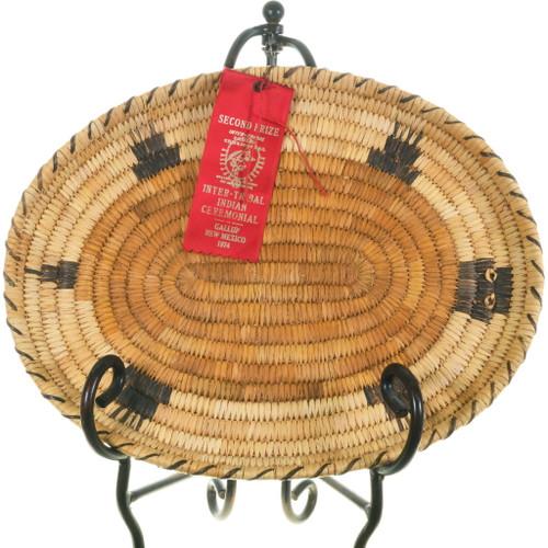 Vintage Papago Oval Turtle Basket 34470