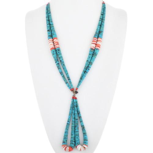 Vintage Santo Domingo Turquoise Shell Necklace 34489