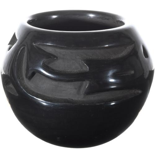 Vintage Santa Clara Pottery Blackware Jar 34490