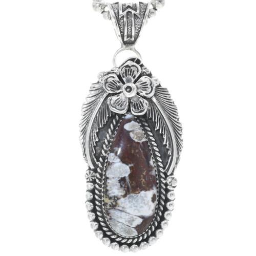 Wild Horse Magnesite Silver Pendant 34502