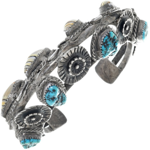 Old Pawn Turquoise Seashell Bracelet 34506