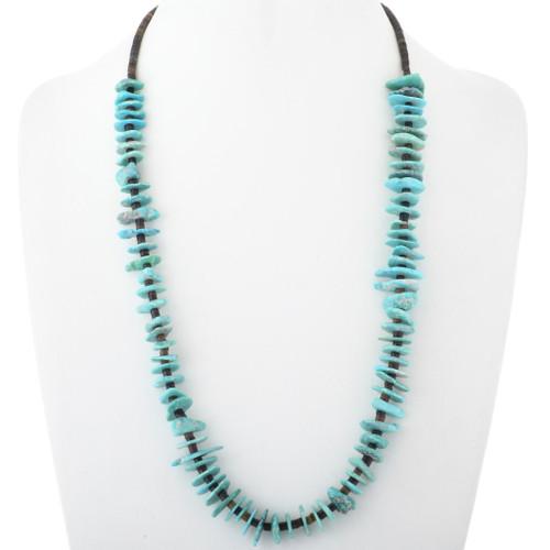 Santo Domingo Natural Turquoise Heishi Necklace 34507