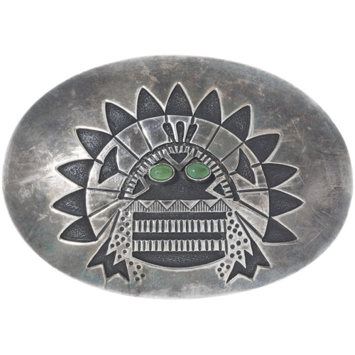 Old Pawn Green Turquoise Kachina Belt Buckle