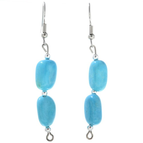 Turquoise Silver Dangle Earrings 34561