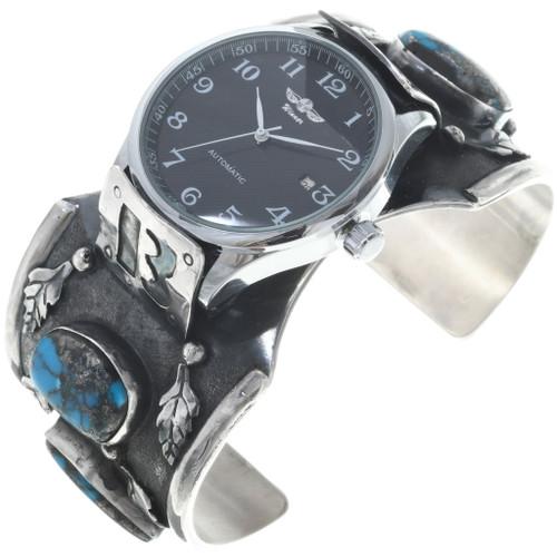 Vintage Turquoise Navajo Cuff Watch Bracelet 34572