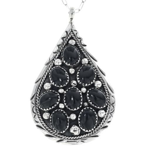 Navajo Black Onyx Pendant 34662