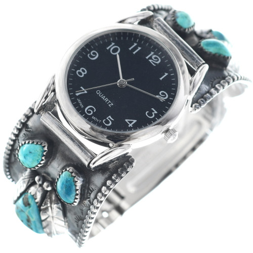 Old Pawn Turquoise Nugget Mens Watch 34840