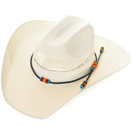 Native American Beaded Leather Hatband 34841