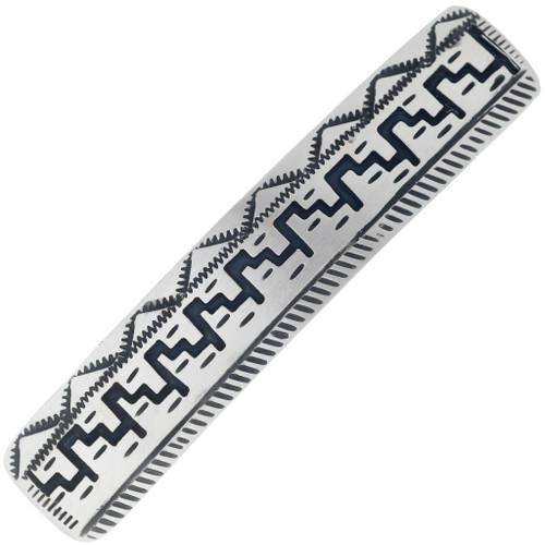 Navajo Made Silver Mesa Hair Barrette 34862