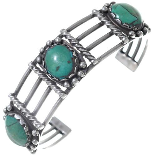 Old Pawn Fox Turquoise Bracelet 34869