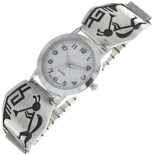 Vintage Overlaid Silver Hopi Watch 34881