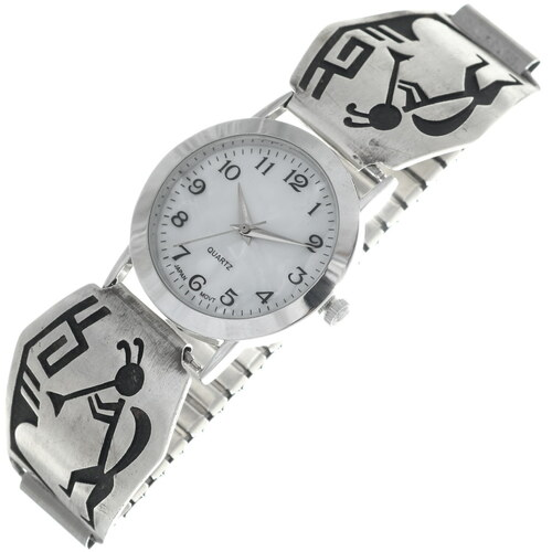 Vintage Overlaid Silver Hopi Watch 34881