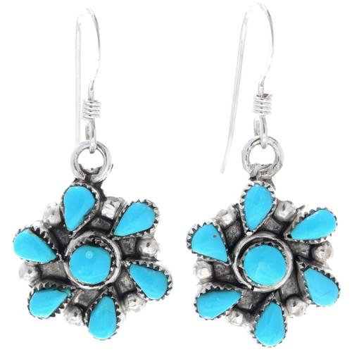 Western Turquoise French Hook Earrings 34904