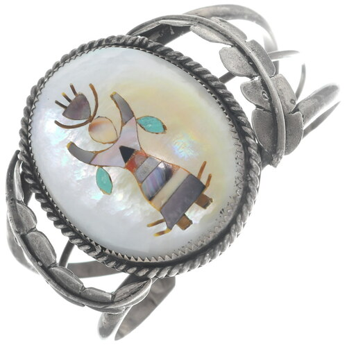 Native American Apache Crown Dancer Zuni Bracelet 34911