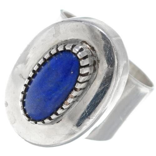 Vintage Navajo Sterling Silver Lapis Lazuli Ring 34922