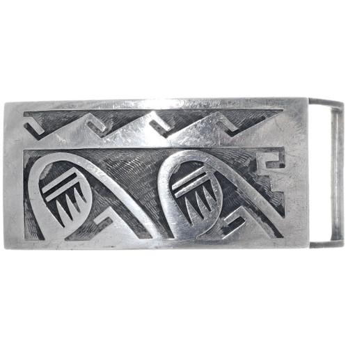 Old Pawn Hopi Sterling Silver Belt Buckle 34930