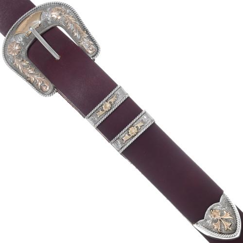 Vintage 10K Gold Silver Ranger Belt Buckle 35049