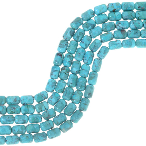 Genuine Turquoise Barrel Beads 34759