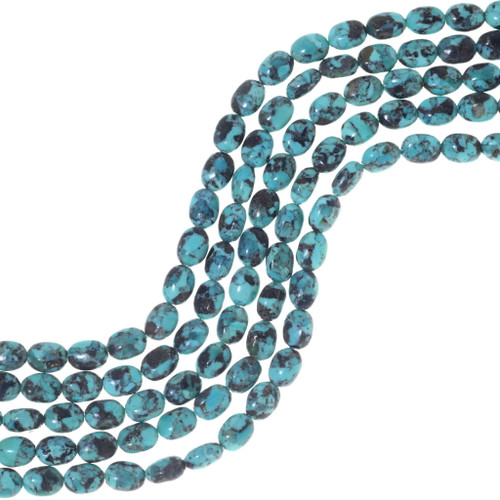Oval Turquoise Beads 34760