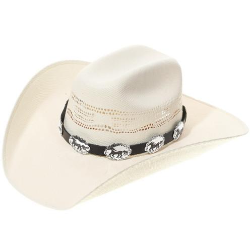 Galloping Horse Silver Concho Hatband 35095