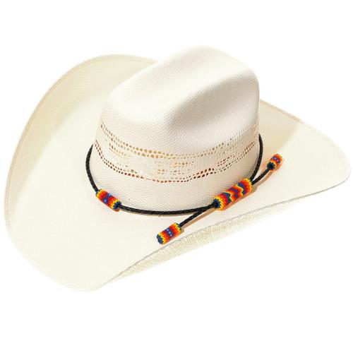 Navajo Hand Beaded Leather Hatband 35104