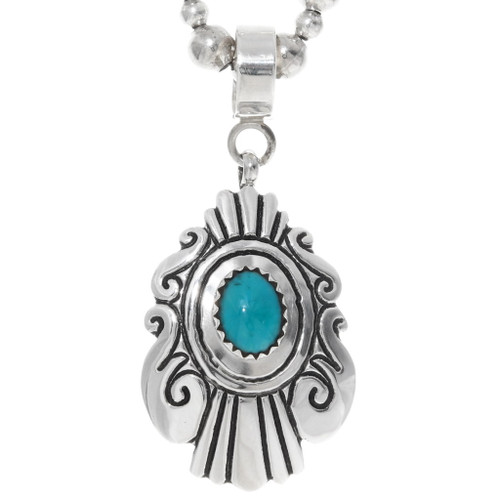 Overlaid Sterling Silver Turquoise Pendant 35105