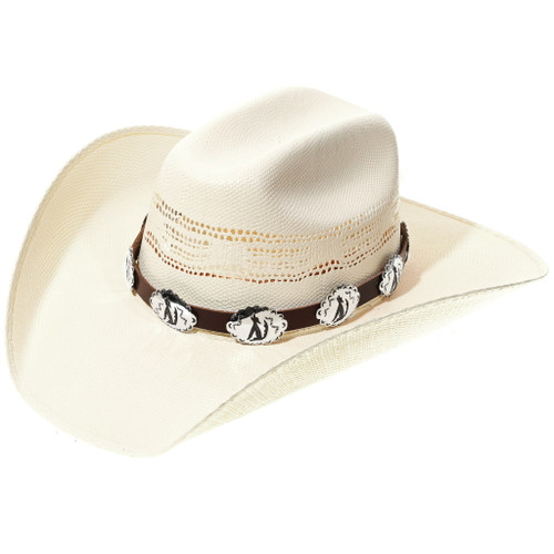 Navajo Howling Wolf Concho Hatband 35124