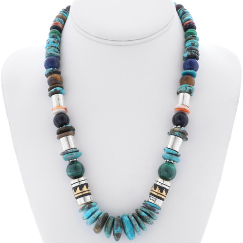 Navajo Turquoise Gem Necklace 31629