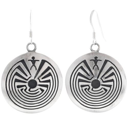 Man in the Maze Sterling Silver Earrings 35145
