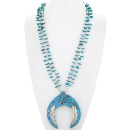 Santo Domingo Turquoise Shell Necklace 35170