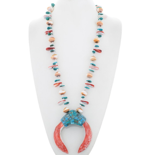 Spiny Oyster Shell Turquoise Necklace 35176