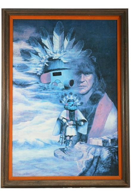 Vintage Framed Kachina Spirit Canvas Print 35198